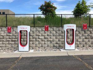tesla car charging station