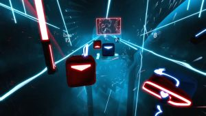 VR technology used for Beat Saber game